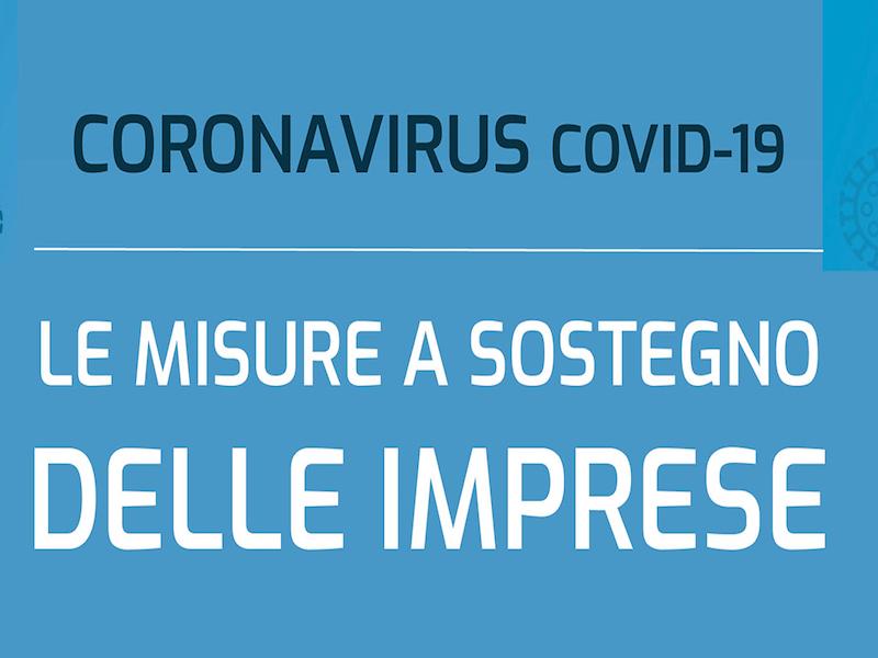Coronavirus, le misure a sostegno delle imprese