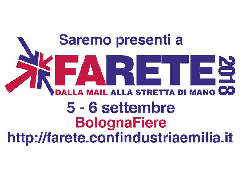 Insieme per il lavoro partecipa a Farete 2018 il 5 e 6 settembre